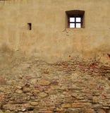 Middeleeuwse muurachtergrond Stock Foto