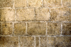 Middeleeuwse muurachtergrond in Malta Stock Foto