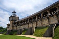 Middeleeuwse Oekraïense houten vesting Stock Foto