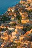 Middeleeuwse ommuurde stad van Monemvasia, Griekenland Stock Afbeelding