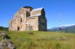 Middeleeuwse orthodoxe kerk in het dorp van Agubediya Abchazië Royalty-vrije Stock Afbeeldingen