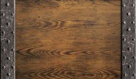 Middeleeuwse oude houten deurachtergrond Stock Afbeelding