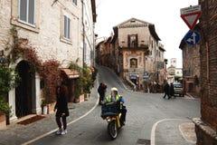 Middeleeuwse oude stad van Assisi - Italië Royalty-vrije Stock Foto