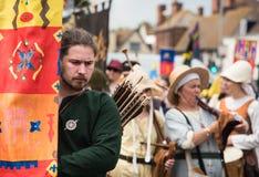 Middeleeuwse parade, Canterbury Kent Stock Foto