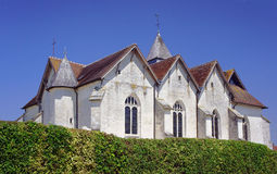Middeleeuwse parochiekerk Royalty-vrije Stock Afbeelding