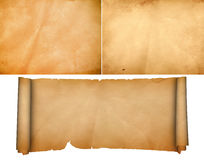 Middeleeuwse perkamentreeks Stock Afbeelding