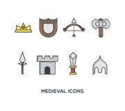 Middeleeuwse Pictogrammen Royalty-vrije Stock Afbeeldingen