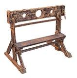 Middeleeuwse pillory stock afbeelding