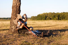 Middeleeuwse ridder stock foto's
