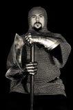 Middeleeuwse Ridder met Bijl stock afbeelding