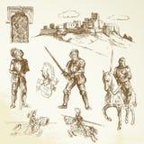 Middeleeuwse ridders Stock Foto