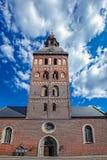 Middeleeuwse rode baksteenkerk Stock Afbeelding
