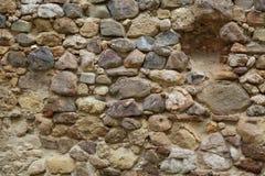 Middeleeuwse rotsmuur Stock Afbeeldingen