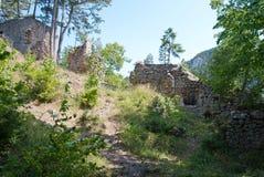 Middeleeuwse ruïne Schrattenstein Royalty-vrije Stock Afbeelding