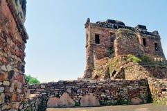 Middeleeuwse ruïnes Stock Foto's