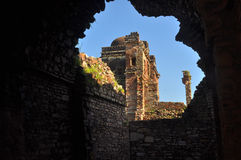 Middeleeuwse ruïnes Stock Foto