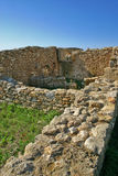 Middeleeuwse ruïnes in Kaukana - Sicilië Royalty-vrije Stock Foto's