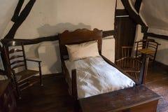 Middeleeuwse rustieke slaapkamer Royalty-vrije Stock Afbeelding