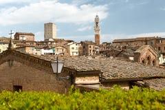 Middeleeuwse Siena in de lente Toscanië, Italië Royalty-vrije Stock Foto