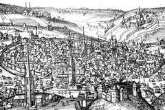 Middeleeuwse stad Royalty-vrije Stock Fotografie