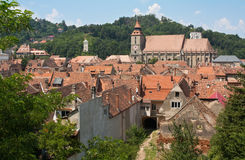 Middeleeuwse stad stock afbeeldingen