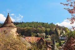 Middeleeuwse stad Buedingen, Duitsland Royalty-vrije Stock Afbeelding