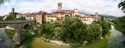 Middeleeuwse stad Cividale del Friuli Royalty-vrije Stock Fotografie