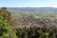 Middeleeuwse Stad Gubbio in Umbrië Royalty-vrije Stock Fotografie