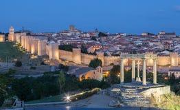 Middeleeuwse stad van Avila, Spanje royalty-vrije stock afbeelding