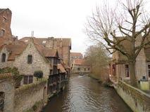 Middeleeuwse stad van Brugge Stock Fotografie