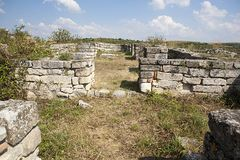 Middeleeuwse Stad van Cherven, Bulgarije Stock Fotografie