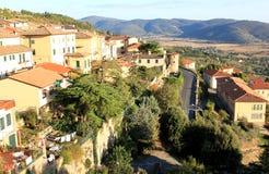 Middeleeuwse stad van Cortona, Toscanië, Italië Royalty-vrije Stock Foto