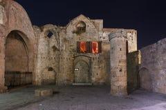 Middeleeuwse stad van het eiland van Rhodos in Griekenland royalty-vrije stock foto's