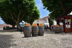 Middeleeuwse stad van Obidos in Portugal Stock Afbeeldingen