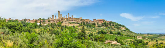 Middeleeuwse stad van San Gimignano, Toscanië, Italië royalty-vrije stock foto