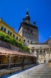 Middeleeuwse stad van sighisoara stock foto's