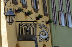 Middeleeuwse stad van sighisoara stock fotografie