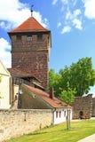 Middeleeuwse stadspoort in Beieren Stock Afbeeldingen
