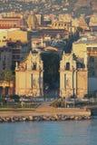 Middeleeuwse stadspoort Porta Felice Palermo, Italië stock foto