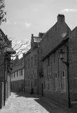 Middeleeuwse stadsstraat stock foto