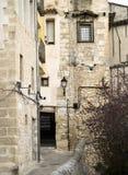 Middeleeuwse stadsstraat Stock Fotografie