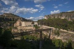Middeleeuwse steden van Spanje, Cuenca in de autonome gemeenschap van Castilla La Mancha Stock Afbeeldingen