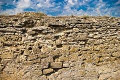 Middeleeuwse steenmuur Stock Afbeeldingen