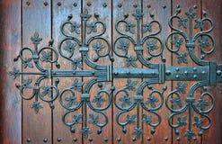 Middeleeuwse stijl houten poorten Stock Fotografie