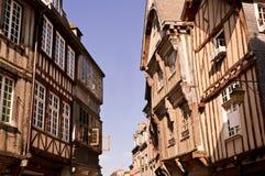 Middeleeuwse straat Stock Foto's