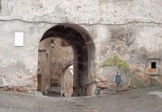 Middeleeuwse straat Stock Foto