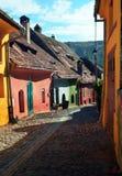 Middeleeuwse straat Royalty-vrije Stock Afbeeldingen
