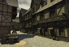 Middeleeuwse Straat Royalty-vrije Stock Foto