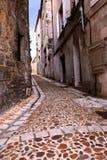 Middeleeuwse straat in Frankrijk Royalty-vrije Stock Foto's
