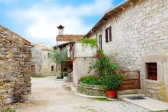 Middeleeuwse straat in Kroatië. Royalty-vrije Stock Afbeelding